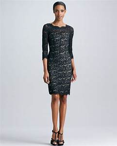 Lyst - Ml Monique Lhuillier Lace Cocktail Dress with Open ...