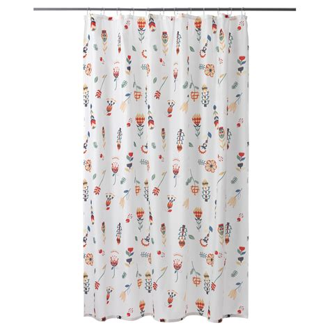 ikea shower curtain rosenfibbla shower curtain white floral pattern 180x180 cm