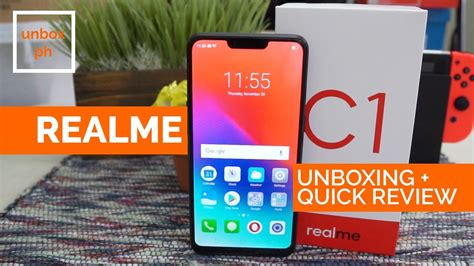 realme c1 unboxing and review