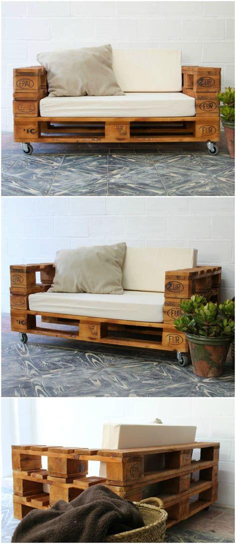 sofa de palets  ruedas sofa hecho  palets sofa