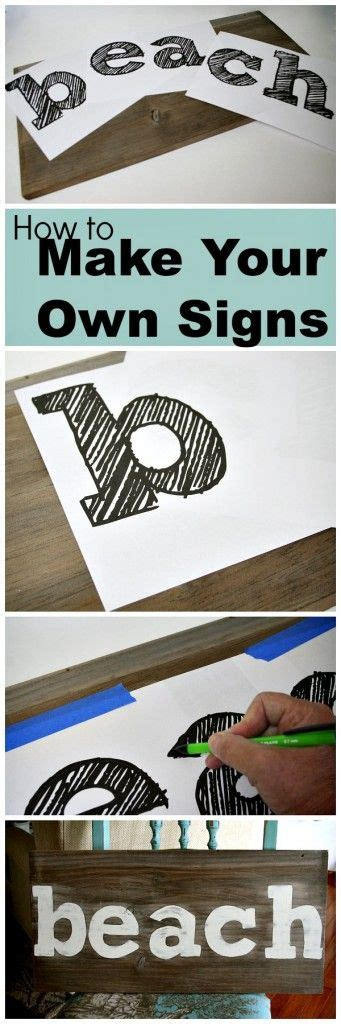 decor hacks easy sign making idea  special cutting