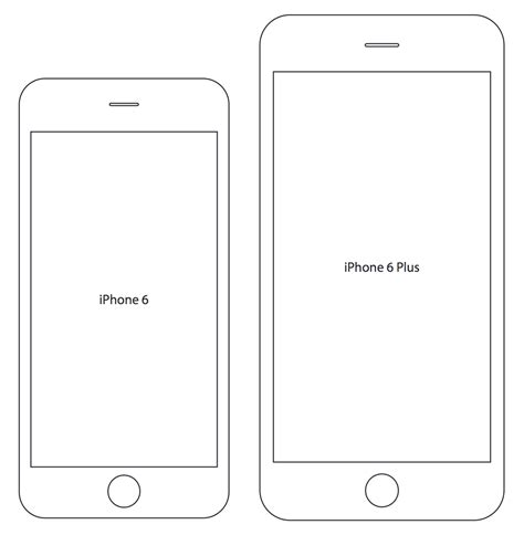 iphone 6 printer best photos of iphone 6 template printable iphone 6