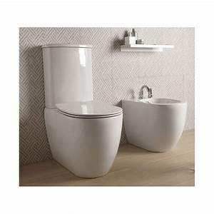 Stand Wc Mit Spülkasten Spülrandlos : sanit r stand wc toilette mit keramik wasser sp lkasten mit bidet sp lrandlos gsg like ~ Frokenaadalensverden.com Haus und Dekorationen