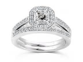 circle cut engagement rings 2 carats princess halo wedding ring bridal set jewelocean