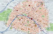 Map of Paris tourist attractions, sightseeing & tourist tour