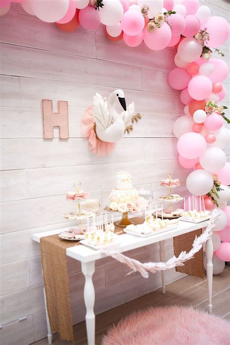 Kara's Party Ideas Magical Sweet Swan Birthday Party