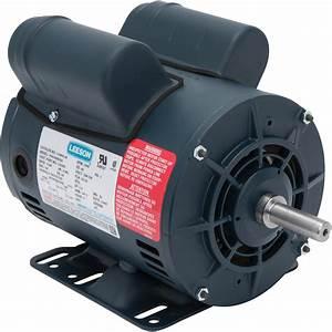 Leeson Air Compressor Electric Motor  U2014 5spl Hp  Model  116845