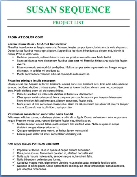project list to civilian transition