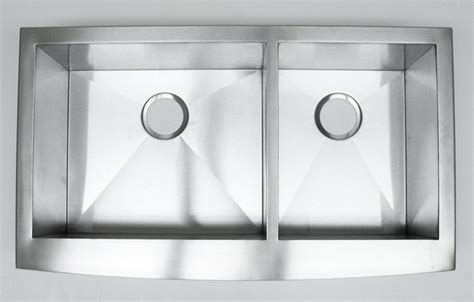 stainless steel apron front kitchen sinks 36 inch stainless steel curved front farmhouse apron 60 40 9384
