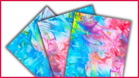 diy    colorful marbleized shaving cream paper