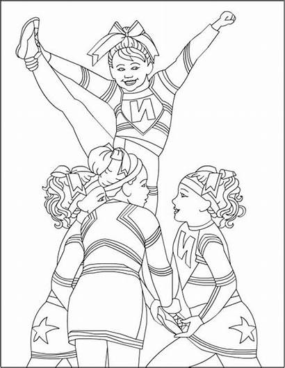 Coloring Cool Pages Stunt Cheerleader Colouring Cheerleaders
