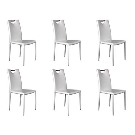 lot 6 chaises pas cher lot 6 chaises blanches achat vente chaise salle a