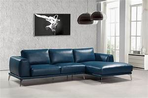 casa drancy modern blue bonded leather sectional sofa With norland contemporary sectional sofa