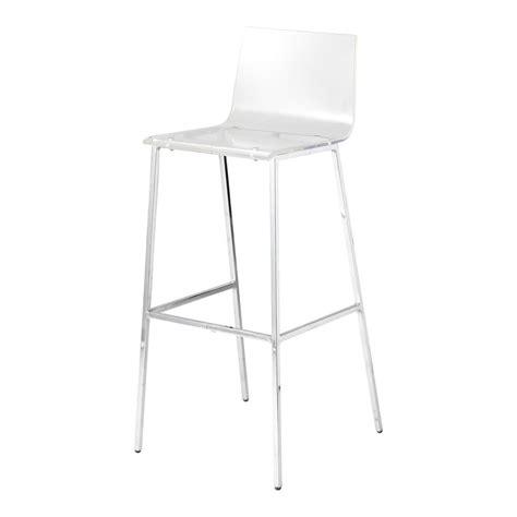 chaise haute transparente chaise de bar en plastique acrylique et métal transparente