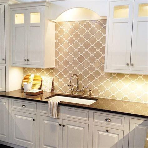 Gray Arabesque Tiles  Contemporary  Kitchen