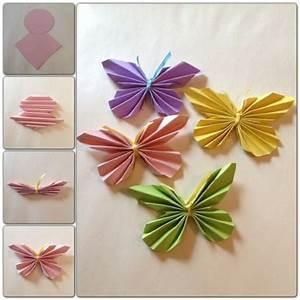 Einfache Papierblume Basteln : die 25 besten ideen zu schmetterlinge basteln auf pinterest papierschmetterlinge butterfly ~ Eleganceandgraceweddings.com Haus und Dekorationen