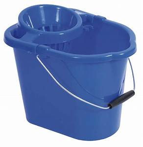 Blue Plastic Mop Bucket with Ringer12 litre [MOPBUC12B ...