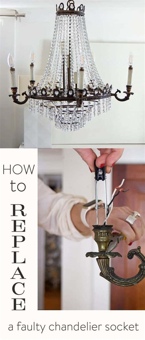 Replacing Chandelier by Easy Chandelier Socket Repair How To Replace The Socket