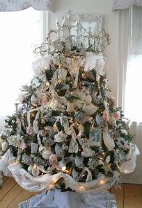 Shabby Chic Christmas Tree Decoration Festival Collections