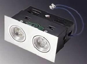 SPOT LED ENCASTRABLE ORIENTABLE DOUBLE PLAFOND 12V 10W