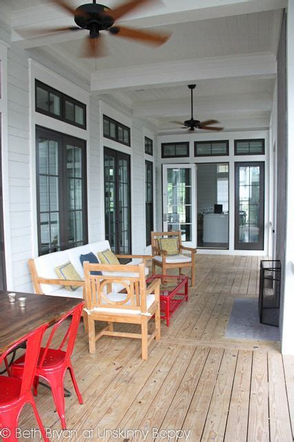 watercolor house  adore  screened   porch  transom windows dream house