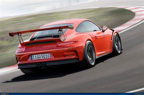 high back wing ausmotive com 2015 porsche 911 gt3 rs revealed