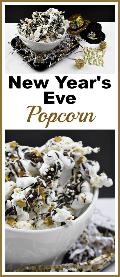 sparkly  years eve popcorn quick  easy party treat