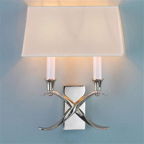transitional x wall sconce with shade 2 light