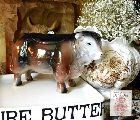 country french hereford bull  cookie jar figurine