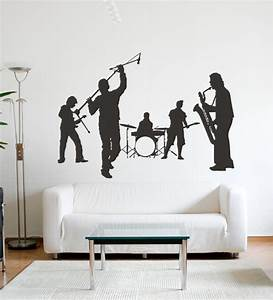 wall art decor rock band wall sticker by wall art decor With kitchen cabinets lowes with rock band wall art