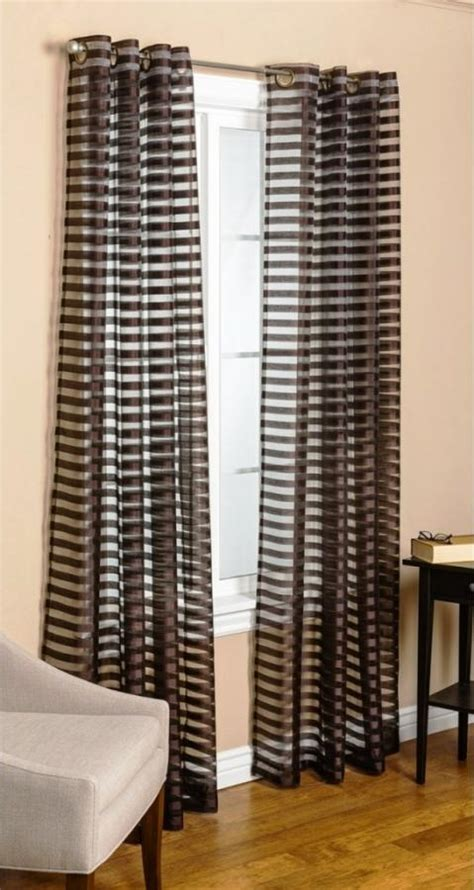 black and white horizontal striped curtains 15 delightful sheer curtain designs for the living room