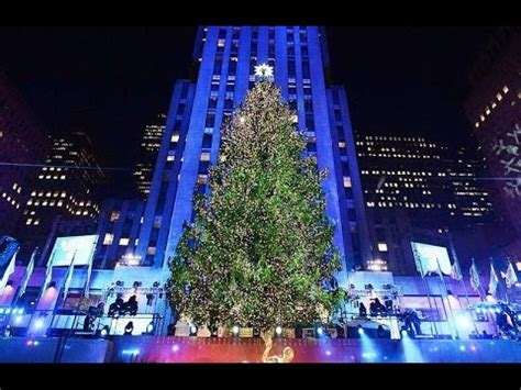 nyc tree lighting 2016 rockefeller center christmas tree lighting 2016 youtube