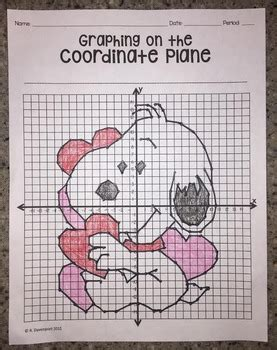 Snoopy Valentine (graphing On The Coordinate Plane Mystery Picture