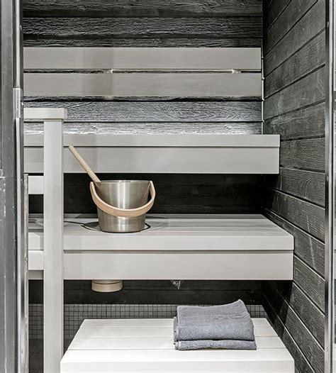 sauna harmaa seinae valkoiset lauteet google haku sauna
