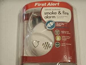 First Alert 120volt Ac Hardwired Smoke Alarm With