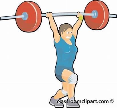 Lifting Weight Clipart Cartoon Lifter Weightlifting 02b