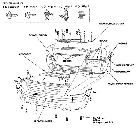 need diagram for honda headlight assembly replacement