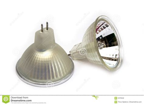 fluorescent small spot light bulbs stock photography