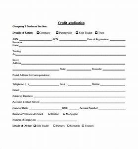 credit application forms 9 documents free download in With generic credit application template