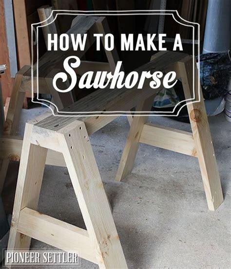 sawhorse woodworking bench diy