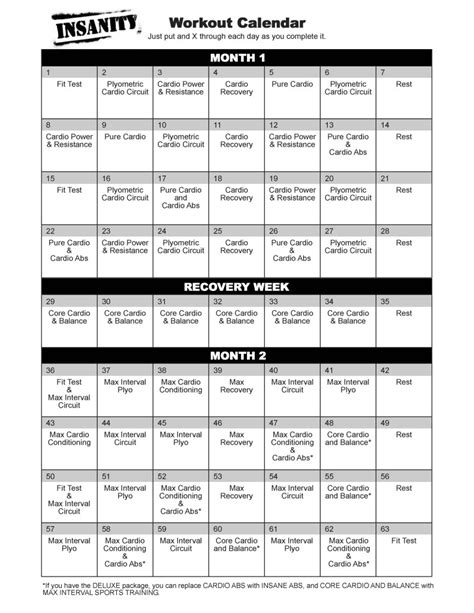 insanity workout schedule   myideasbedroomcom