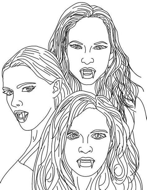 vampire   empusa mythical vampires coloring page