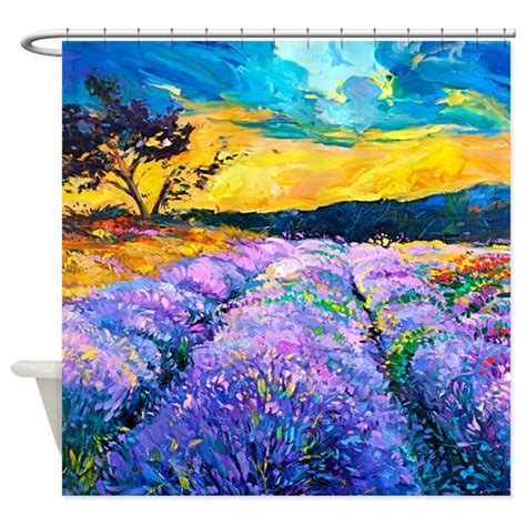 painting shower curtain lavender fields painting shower curtain by bestshowercurtains