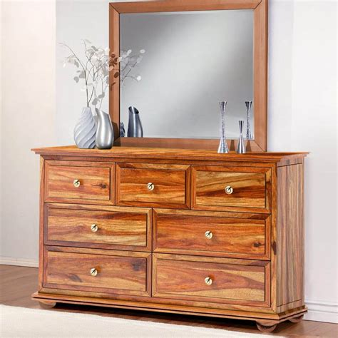 Dresser Chest by Pecos Solid Wood 7 Drawer Bedroom Dresser Chest