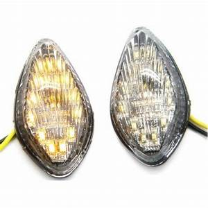 Flush Mount Led Turn Signals Lights Indicator For Honda