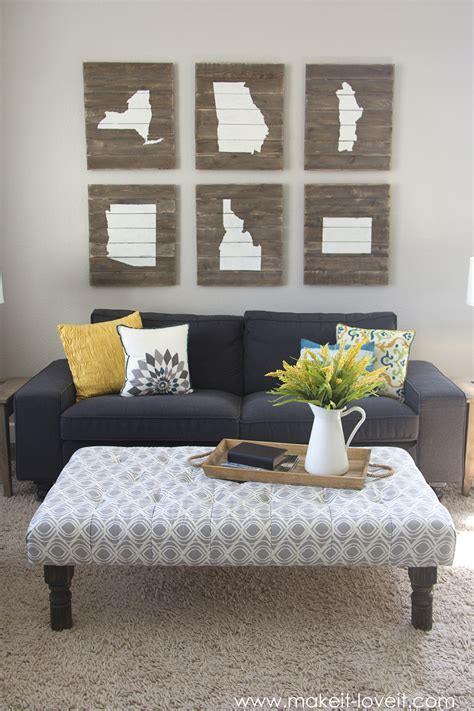 Using An Ottoman As A Coffee Table by Diy Tufted Fabric Ottoman From An Table Make