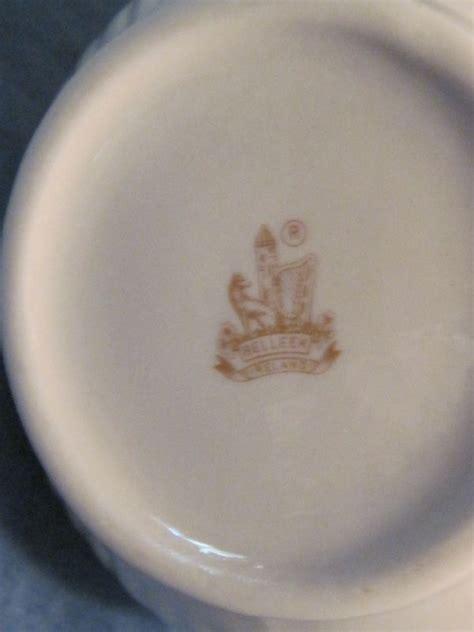belleek aberdeen vase pitcher brown mark  sale