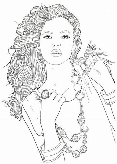 Books Coloring Pages Adult Models Printable Blank