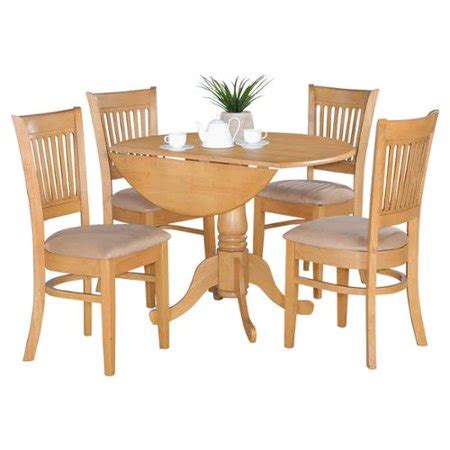 Dinette Table With Leaf by Oak Drop Leaf Table And 4 Dinette Chairs 5 Dining