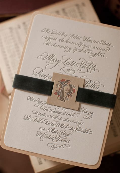 Mary + Ben's Elegant and Rustic Letterpress Wedding